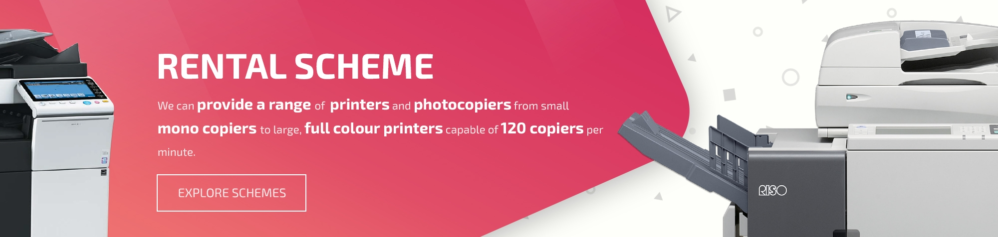 Printer and Photocopier Hire in Nottingham, Leicester and Derby
